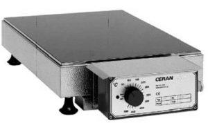 heizplatte ceran glaskeramik elektrisch labor werkstatt regelbar leistungssteller dauerbetrieb stufenlose leistungsregelung elektronische regelung 500grad