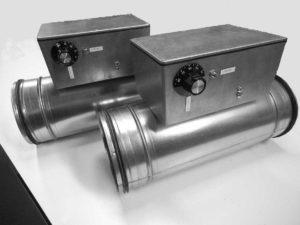 kanallufterhitzer elektrisch lufterhitzer lueftung klima rundrohr temperaturregler temperaturbegrenzer waermerueckgewinnungsanlagen